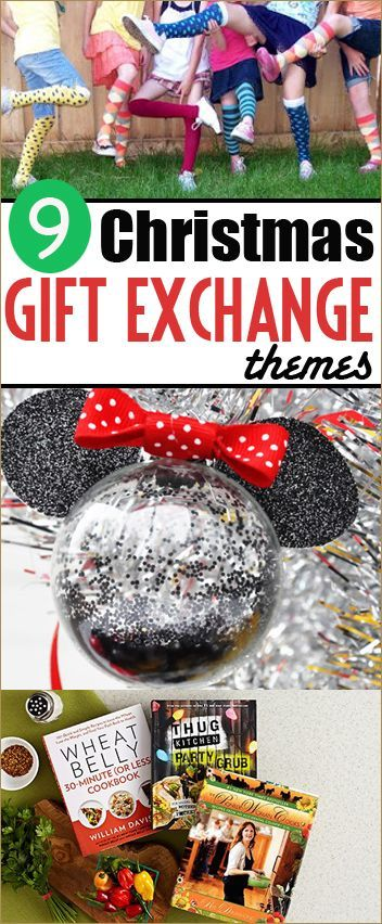 9 Christmas Gift Exchange Themes.  These gift themes will bring a whole new spirit to your Christmas Parties.  Great gifting themes besides White Elephant.