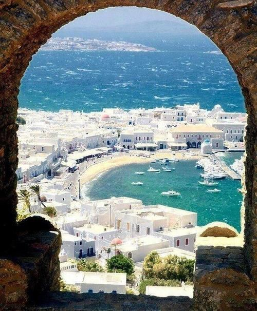 Port of Mykonos, Greece.