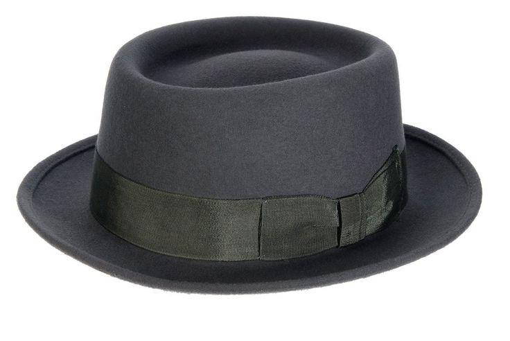 Classic Pork Pie Hat Grey- New