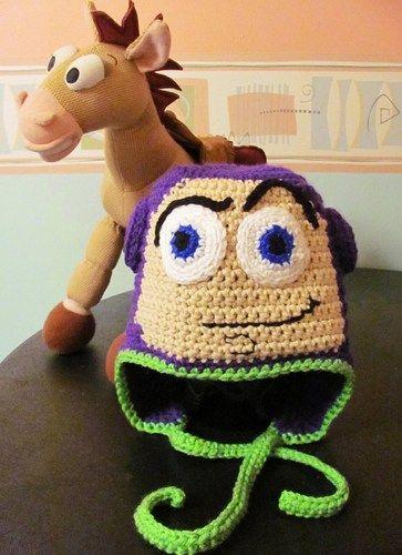 Buzz Lightyear Earflap Hat, crocheted Toy Story fan art ...