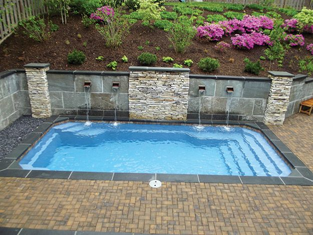 167 best images about house dreams on pinterest for Small fiberglass pools
