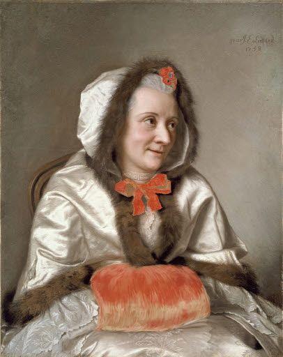 Madame Francois Tronchin (1713-1788) 1758, by Jean-Etienne Liotard (Swiss-French artist, 1702-1789)