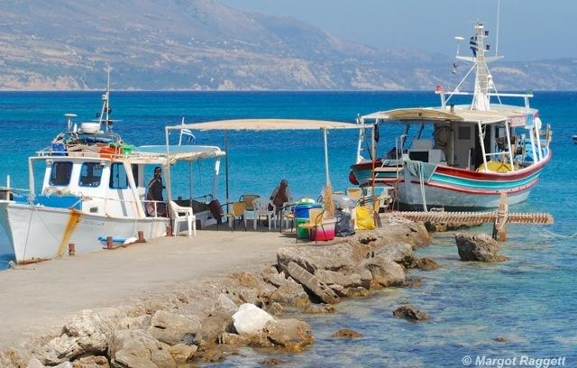 Spartia Fishing Boats Kefalonia by Margot Raggett Photography