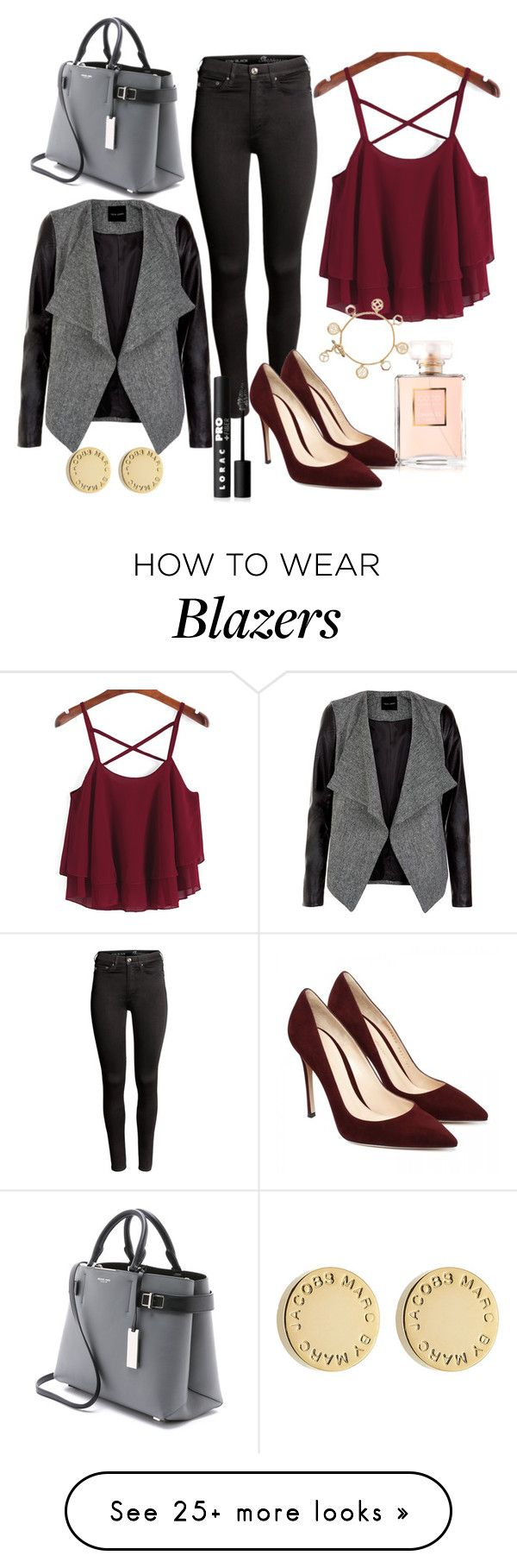 """""""Griis."""" by whateverconlamoda on Polyvore featuring H&M, LORAC, Tory Burch, Marc by Marc Jacobs and Michael Kors"""