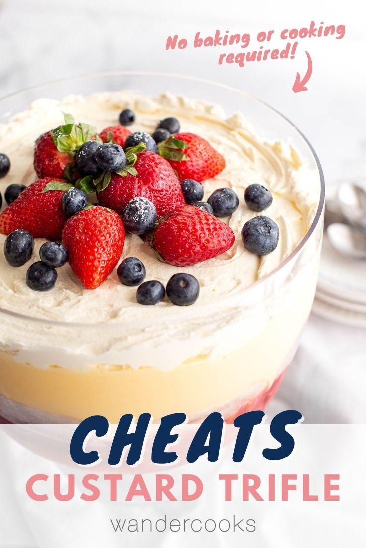 Super Easy Australian Trifle With Custard Recipe In 2020 Baked Dessert Recipes Australian Desserts Australian Snacks