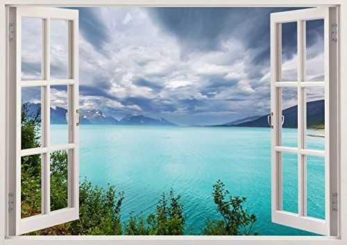 "Wide Lake View Animal 3D Removable Vinyl Wall Sticker Mural Decal Home Window Large 33.5"" x 47"" Bomba-Deal http://www.amazon.com/dp/B00O906V8W/ref=cm_sw_r_pi_dp_d9hnub1DABCDK"
