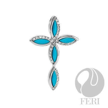 Beautiful Turquoise Cross Pendant $ 205.00