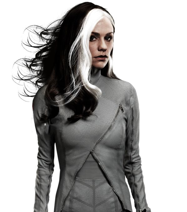 Lev Romanov has black hair with a white streak. Like this X-Men: Days Of Future Past  Rogue Cut