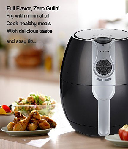 Cozyna+Air+Fryer,+Low+Fat+Healthy+and+Multi+Cooker+with+Rapid+Air+Circulation+System,+3.2+L+with+2+e-cookbooks+Included+(over+50+recipes)