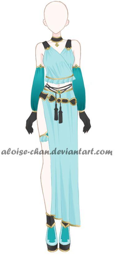 [OPEN] Oriental Outfit Adoptable by Aloise-chan.deviantart.com on @DeviantArt