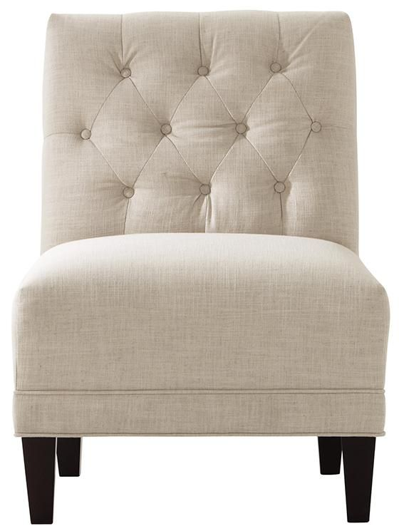 A Button Tufted Armless Chair Is The Perfect Accent In A Sitting Area. The  Neutral Upholstery Coordinates With Other Seating So Itu0027s The Perfect Opu2026