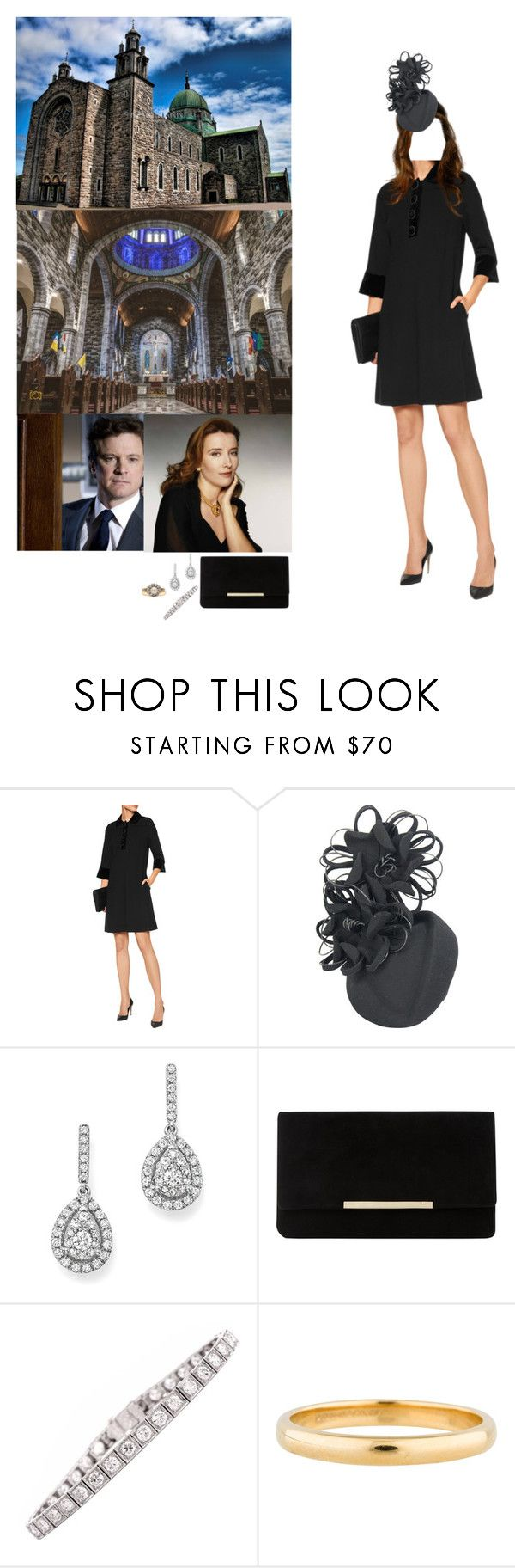 """""""Prince Edward and Princess Mary attend the funeral of Eamon Casey, former Bishop of Galway"""" by princessofleinster ❤ liked on Polyvore featuring Goat, Bloomingdale's, Dune, Firth and Tiffany & Co."""