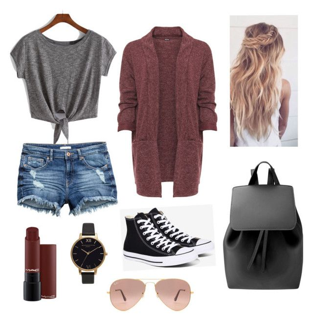 """""""Untitled #10"""" by kajakoralewski ❤ liked on Polyvore featuring WearAll, Converse, Mansur Gavriel, Ray-Ban and Olivia Burton"""
