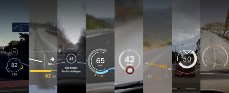 Eight design principles inspired by eight student projects on the future of car head-up displays, #car, #hud