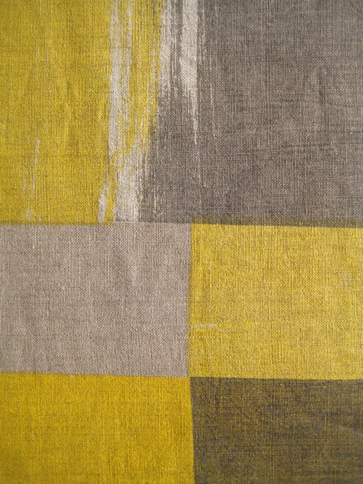 Handprinted textiles by Smitten Design Textiles, painted wall series.