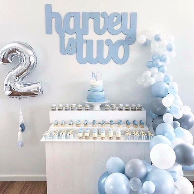 Such a lovely party set up from @sugarcoatedmama 💙    #Regram via @sweet_magazine