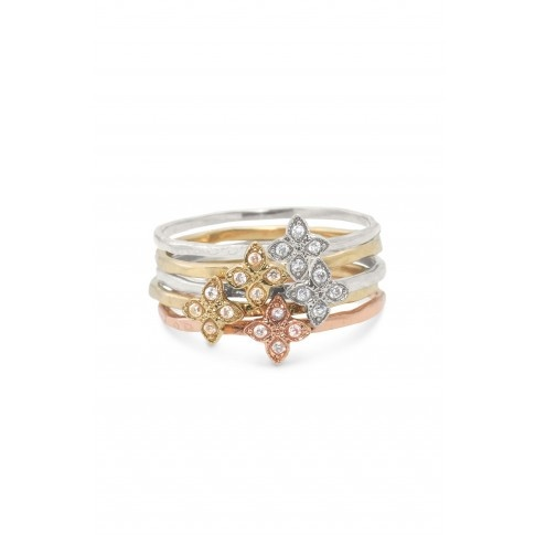 Moraley Flower Stackable Bands - 5 Stacking Rings! Super Cute! Wear them