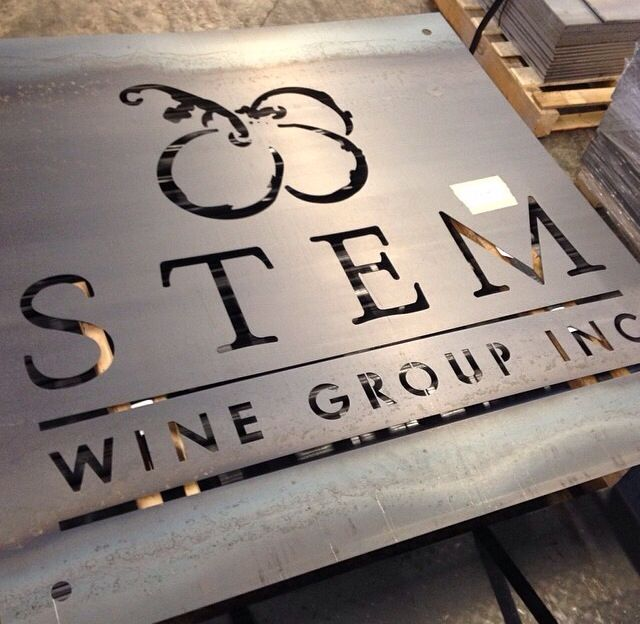 Laser cut sign custom built for Stem Wine Group out in Vaughn. This company imports wines from Europe and distributes them across Canada.