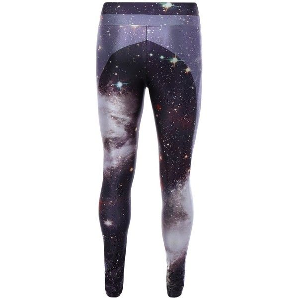 3D Starry Sky Print Skinny Gym Leggings ($15) ❤ liked on Polyvore featuring pants, leggings, skinny trousers, star leggings, blue print leggings, skinny pants and skinny leggings