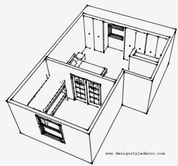 Master bedroom split to create nursery or reading room..