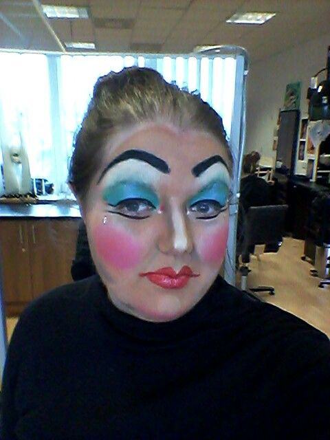 Me looking gorg as a pantomime dame :P Done by Lu Christie