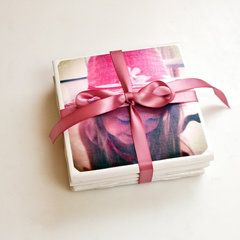 Perfect For Mother's Day: DIY Tile Photo Coasters