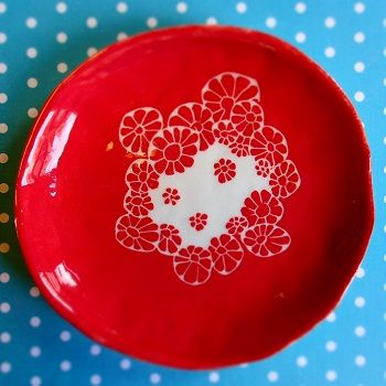 Assiette en porcelaine - Un Hibou dans la Tasse ©