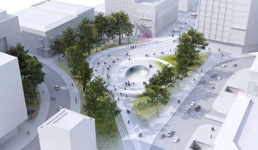 Courtesy of Harry C. Bougadellis & Associate Architects, Georges Batzios, Martha Schwartz Partners