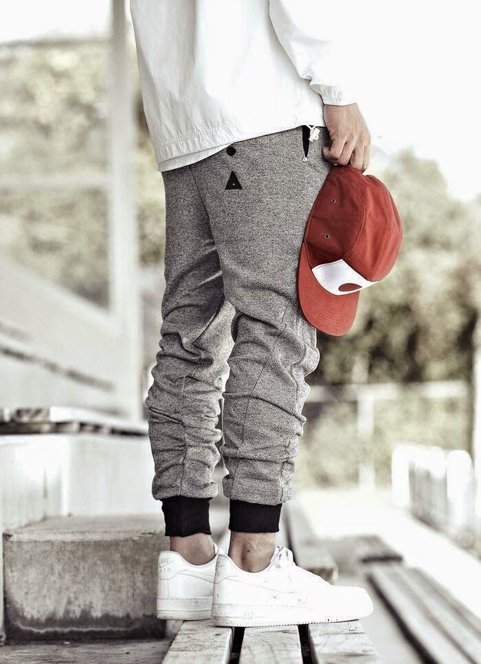 Macho Moda - Blog de Moda Masculina: Calça Jogger Masculina, dicas para usar! Nike Air Force 1, Calça de Moletom, Boné 5panel, 5panel,