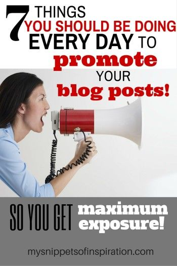 These are 7 wonderful tips to grown your blog! New ideas and reminders of old ones!