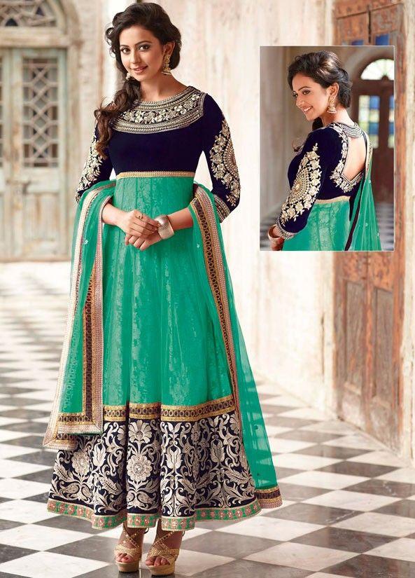 Rakul Preet Rama Green Anarkali Suit - Women