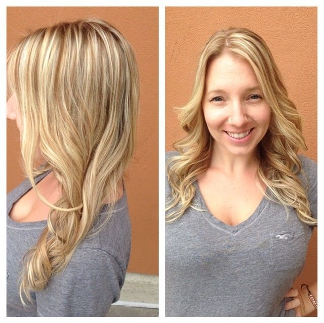 golden blonde hair: highlights and lowlights