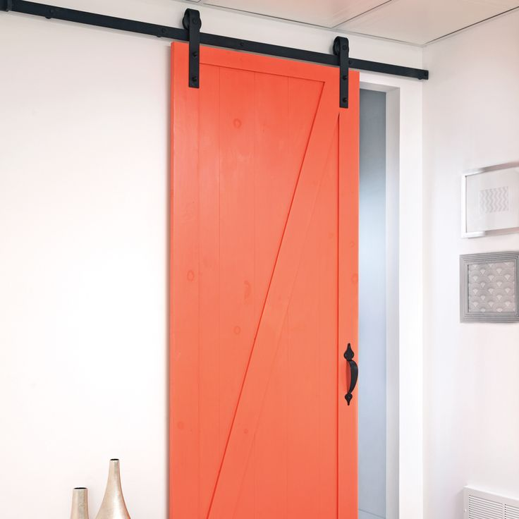 En tapes installer une porte coulissante sur rail en tapes d coration - Kit rail porte coulissante exterieure ...