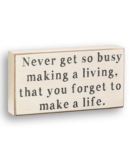 'Making a Living' Box Sign