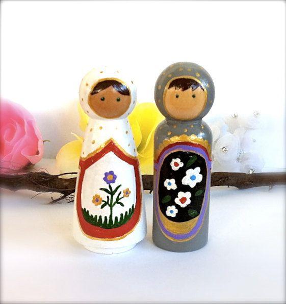 Russian Dolls Matryoshka Wedding Cake Toppers Bride and Groom Nesting Doll Cute…