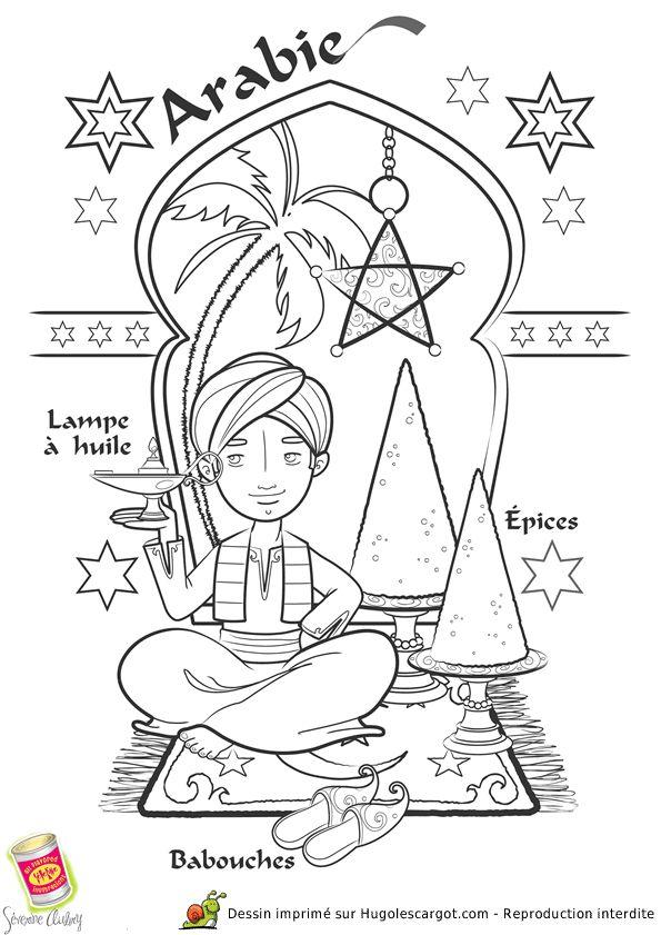 Coloriage Arabie, page 4 sur 43 sur HugoLescargot.com