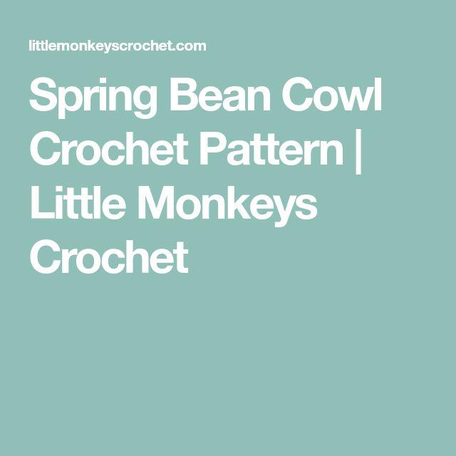 Spring Bean Cowl Crochet Pattern | Little Monkeys Crochet