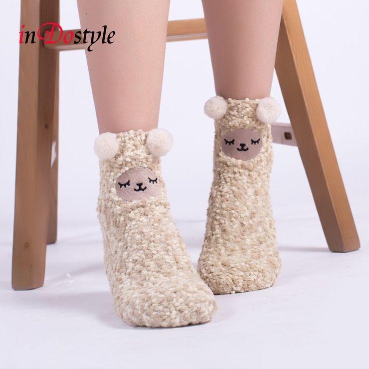 Купить товарInDostyle зима симпатичные kawaii носки мультфильм животных…