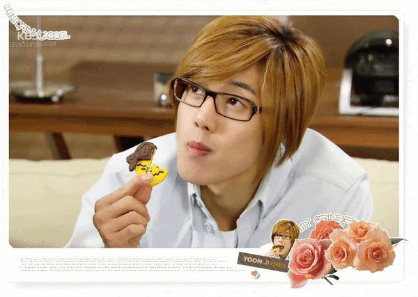 Kim Hyun Joong 김현중 ♡ gif of Yoon Ji Hoo and Jun Pyo snatches the cookie ♡ Boys Over Flowers ♡ Kdrama ♡ Kpop ♡