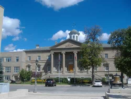 The historic Welland Court House on East Main Street