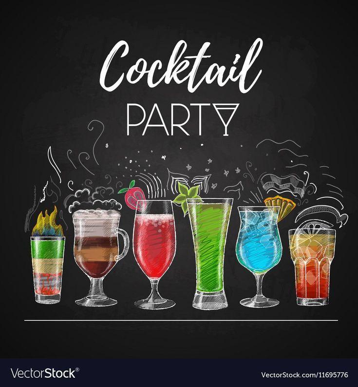 Zeichnungen Cocktail Menu Treue Kostenlos Vektor Bild Kreidezeichnungen Cocktailkarte Lizenzfreie Vektor In 2020 Cocktail Menu Chalk Drawings Cocktails