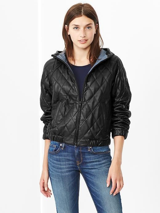 Quilted Leather Bomber | Leather bomber jackets, Black quilt and ...