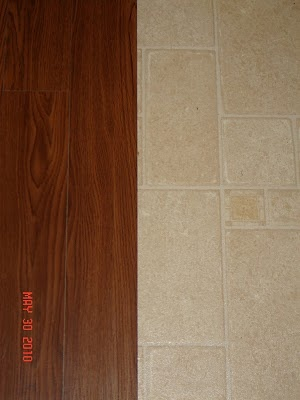 peel and stick vinyl flooring, Im so going to have my hubby do this.