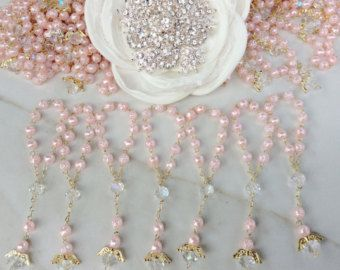 110 pcs Angel Pink Pearl First communion favors by AVAandCOMPANY