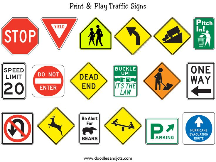 Printable Traffic Signs for Kids Traffic signs, Kids