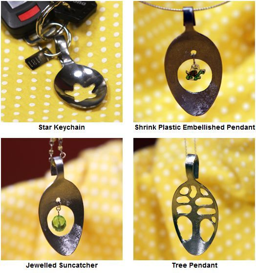 How to Make Spoon and Fork Jewelry Tutorials - The Beading Gems Journal --- http://www.craftster.org/blog/look-what-i-made-with-a-dremel-how-to-make-a-spoon-pendant/#axzz2OVUI24Sk