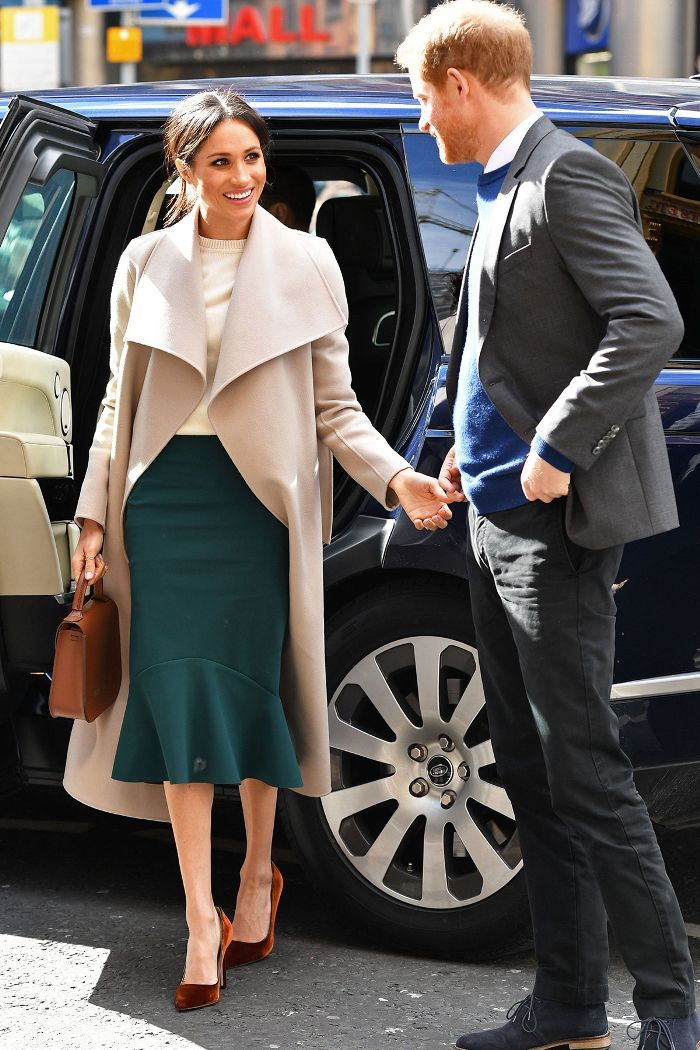 3903bc475a3e Meghan Markle wore your new go-to work outfit for an official visit to  Ireland. See it here.
