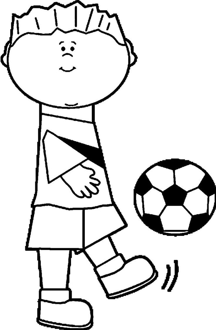 Image Boy Soccer Player Playing Football Coloring Page