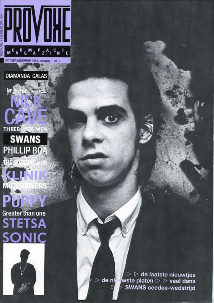 Nick Cave - Provoke Magazine, 1988.10-11