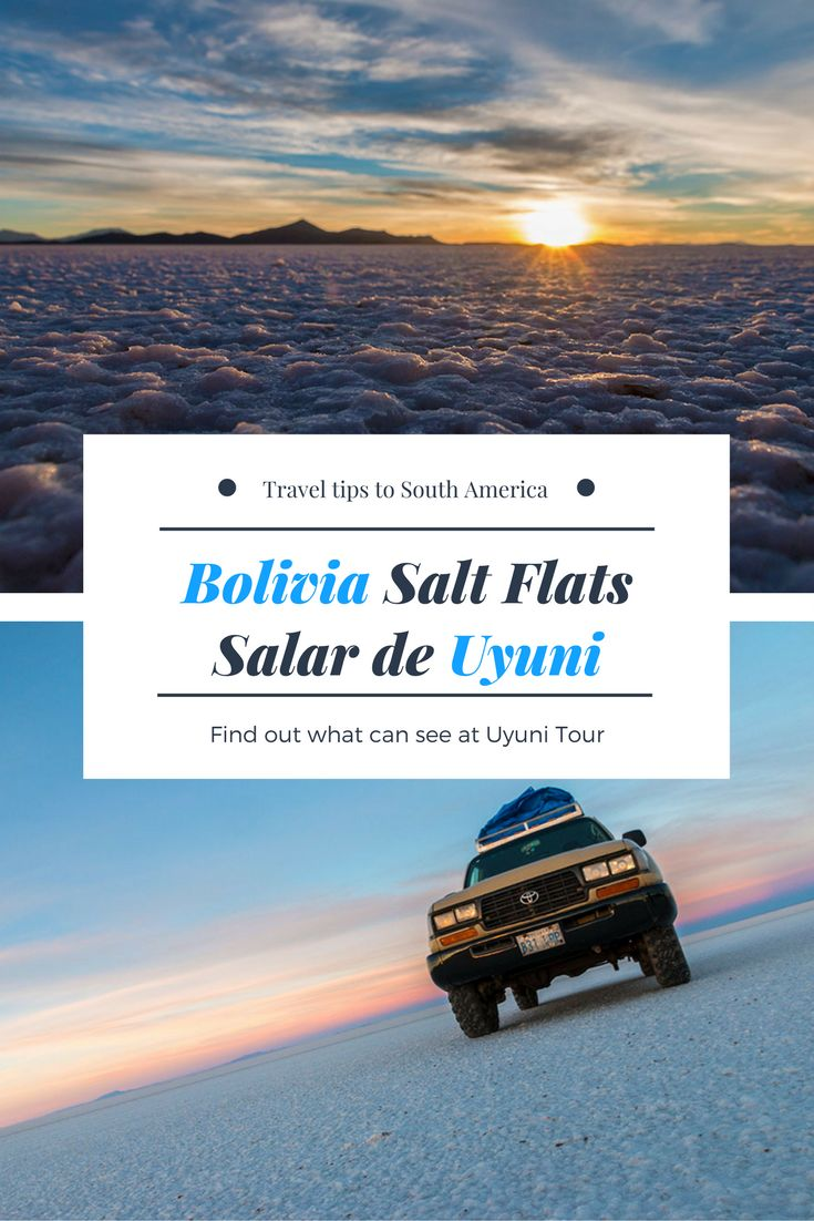Uyuni Salt Flats are one of many attractions in Bolivia. Check our travel guide to Salar de Uyuni tour and find out what you can see and how to plan it and why the Uyuni 3 day tour should be on your bucket list. #Bolivia #SouthAmerica #LatinAmerica #Uyuni #Travel #wanderlust #salt #desert #tavelphotography #traveltips #SaltFlats #SalarDeUyuni #TravelBolivia